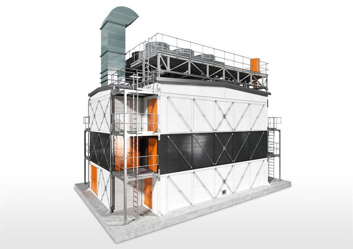 Быстровозводимая расширяемая модульная конструкция для электрогенерации