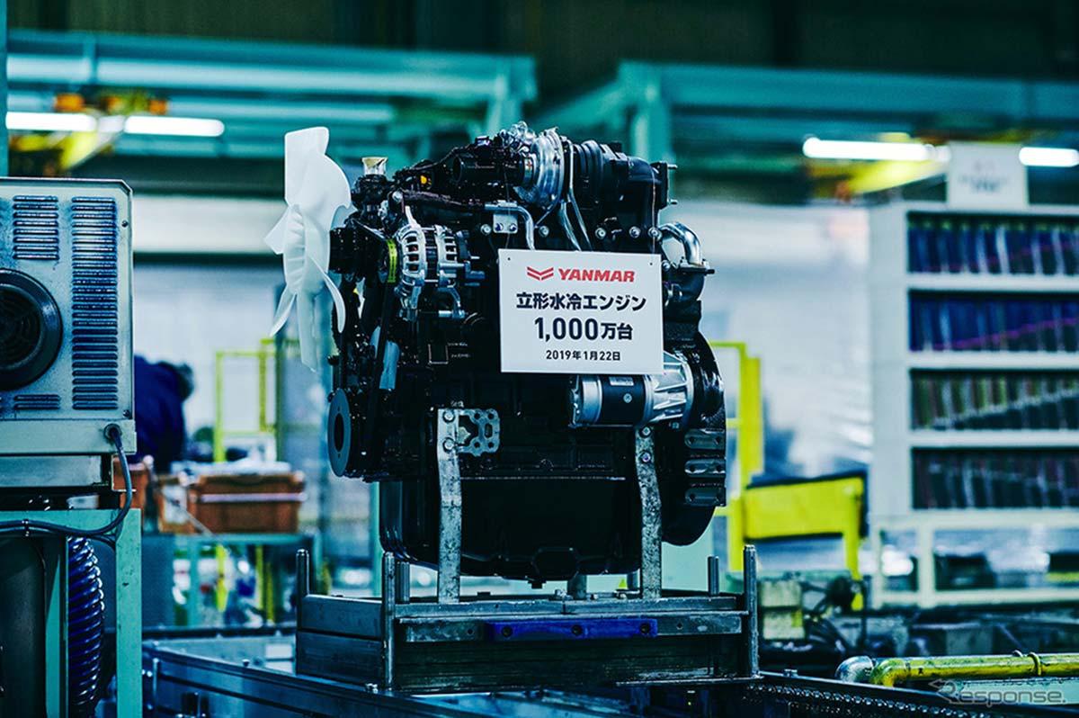 Yanmar изготовила 10-миллионный вертикальный двигатель с водяным охлаждением