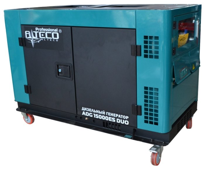 дизельная электростанция alteco adg 15000 es duo