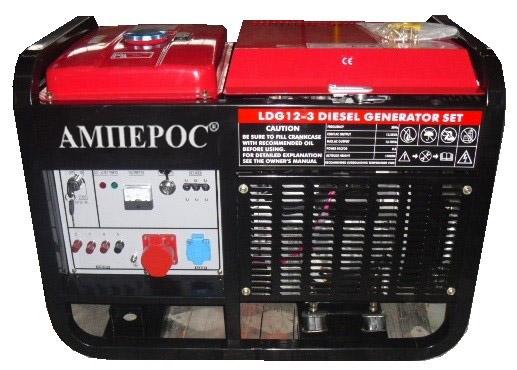 дизельная электростанция амперос ldg12-3 e