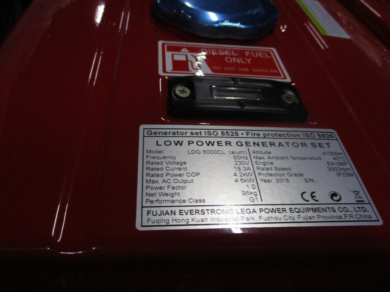 дизельная электростанция amperos ldg5000cl