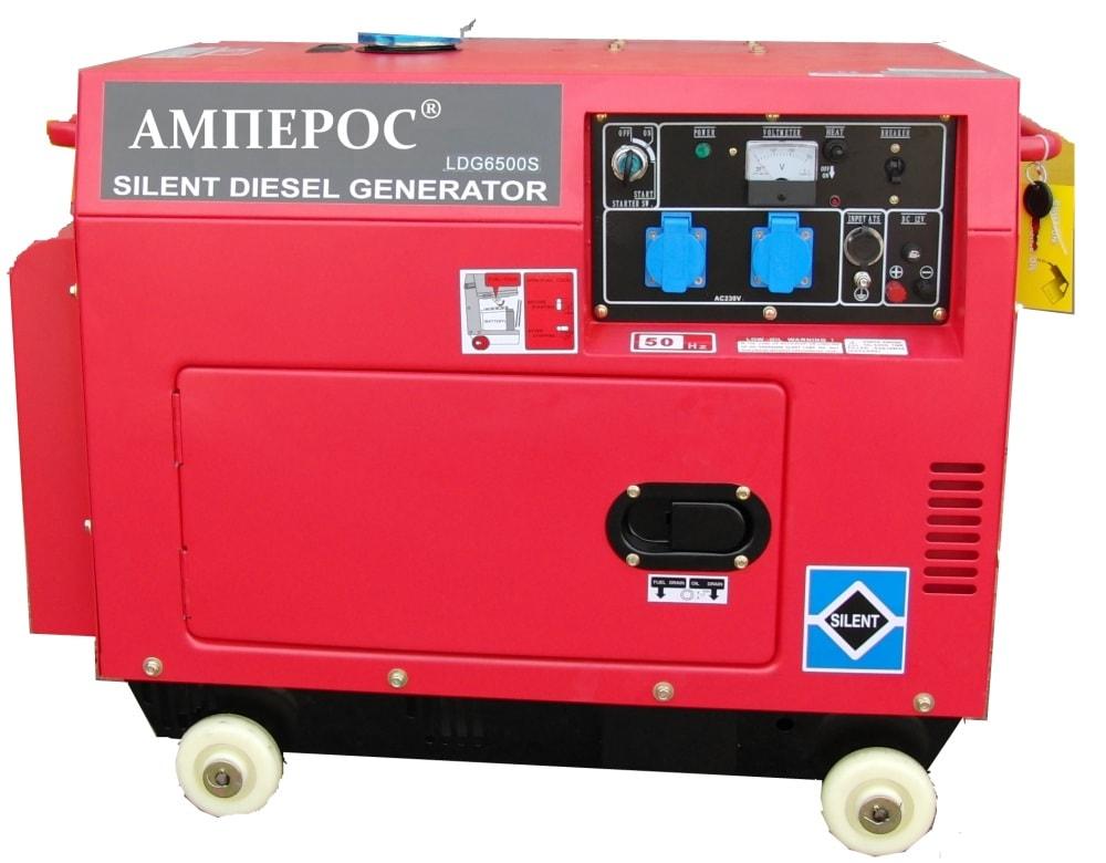 дизельная электростанция amperos ldg6000s-3