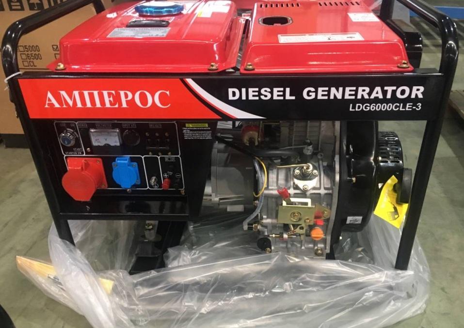 дизельная электростанция amperos ldg6000cl-3