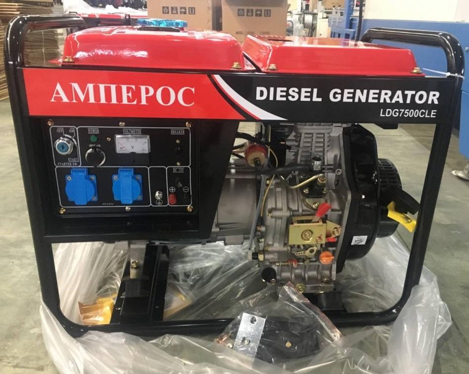 дизельная электростанция амперос ldg7500cle-3