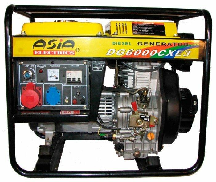 дизельная электростанция asia electrics dg6000cxe3