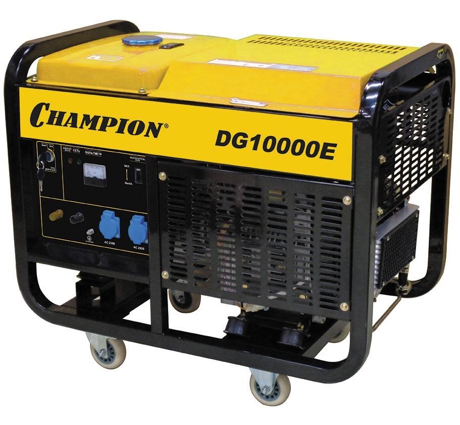 дизельная электростанция champion dg10000e