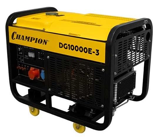 дизельная электростанция champion dg10000e-3