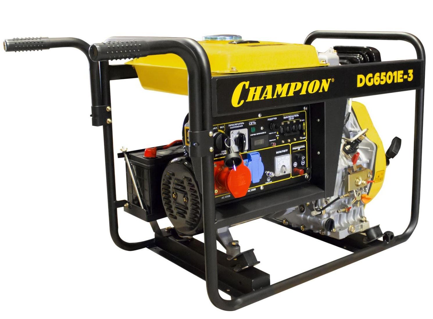 дизельная электростанция champion dg6501e-3