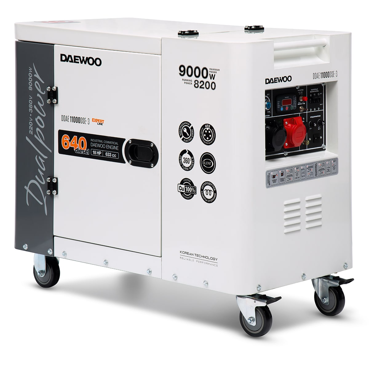 дизельная электростанция daewoo ddae 11000dse-3