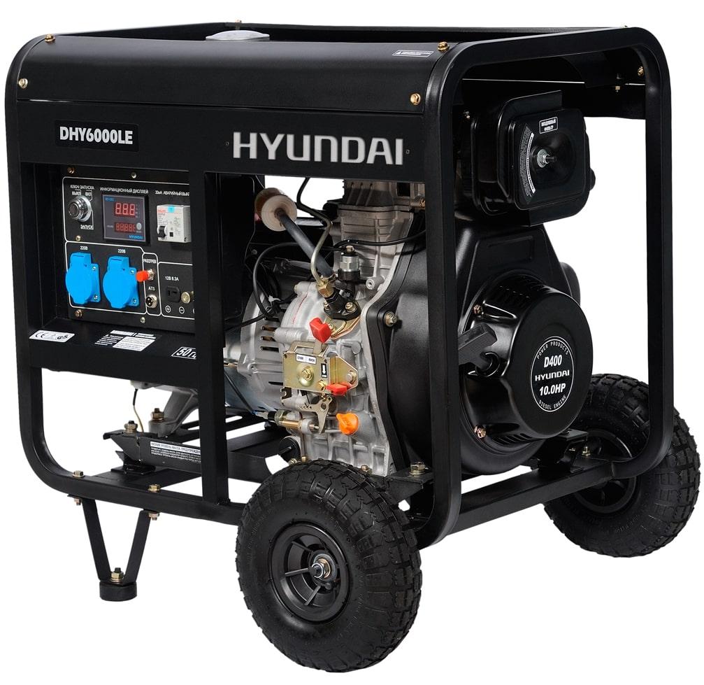дизельная электростанция hyundai dhy 6000le