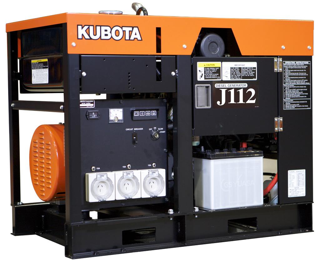 дизельная электростанция kubota j 112
