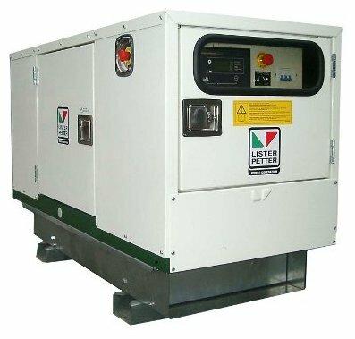 дизельная электростанция lister petter lld140a-wle350