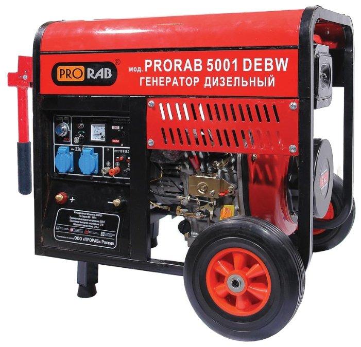 дизельная электростанция prorab 5001 debw