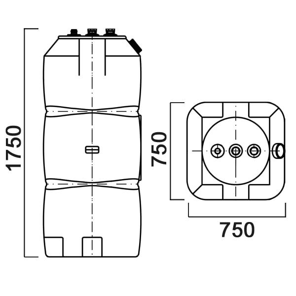 Топливный бак Анион Т800вкз