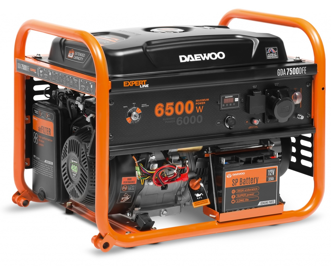 газовая электростанция daewoo gda 7500 dfe