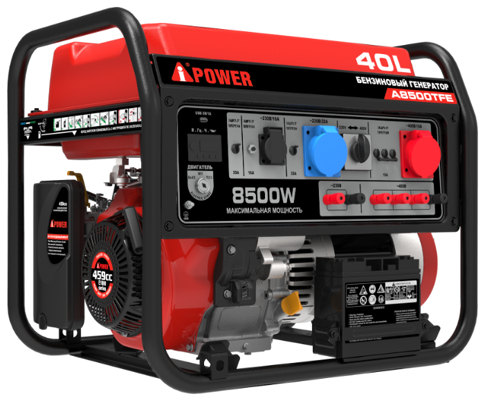 бензиновая электростанция a-ipower a8500tfe
