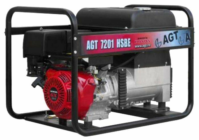 бензиновая электростанция agt 7201 hsbe r16