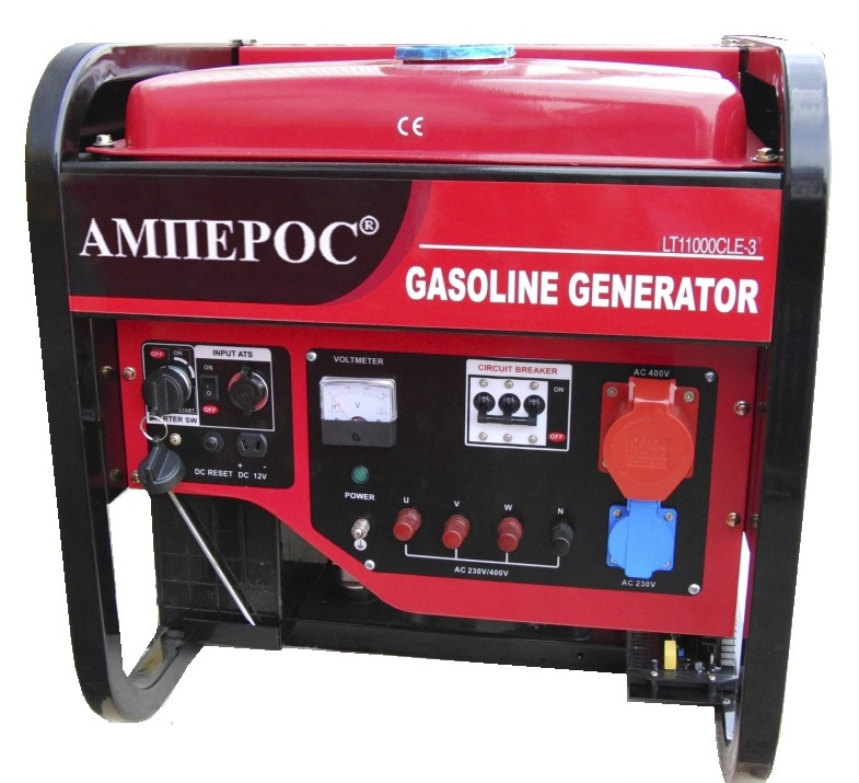 бензиновая электростанция amperos lt11000cle-3