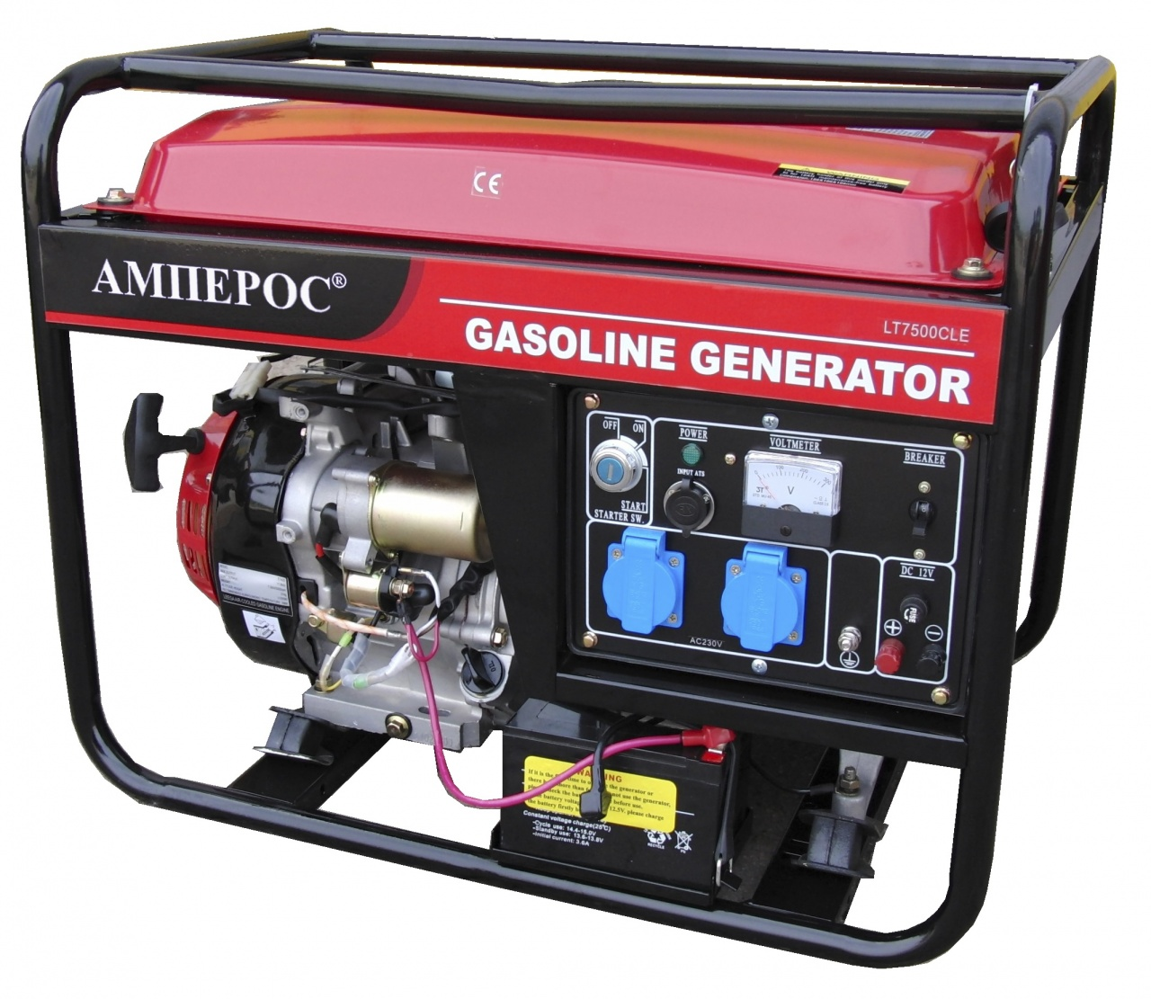 бензиновая электростанция амперос lt5000cle