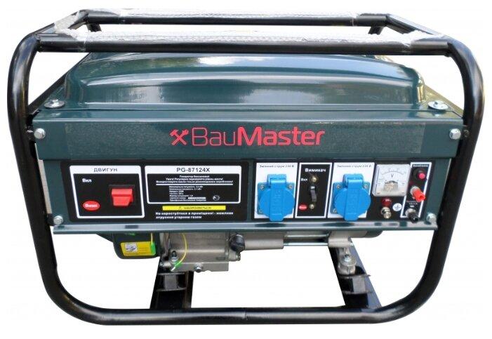 бензиновая электростанция baumaster pg-87124x