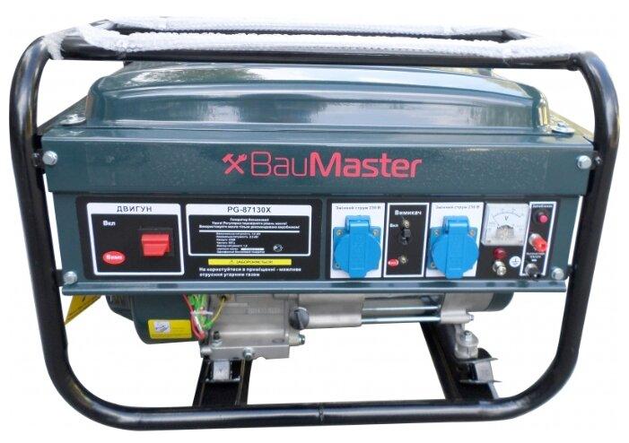 бензиновая электростанция baumaster pg-87130x