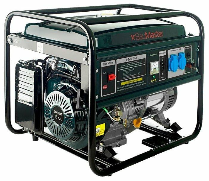бензиновая электростанция baumaster pg-87155x