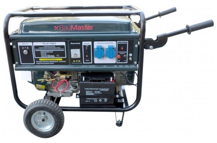 бензиновая электростанция baumaster pg-87156ex