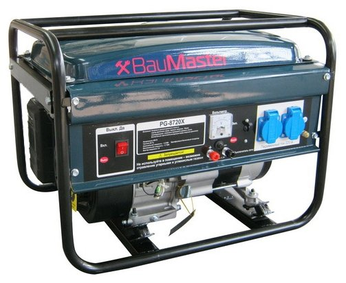 бензиновая электростанция baumaster pg-8720х