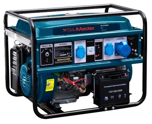 бензиновая электростанция baumaster pg-8755ex
