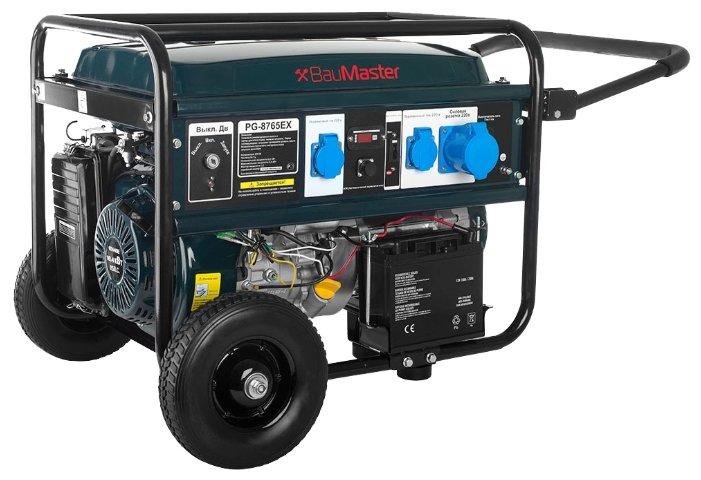 бензиновая электростанция baumaster pg-8765ex