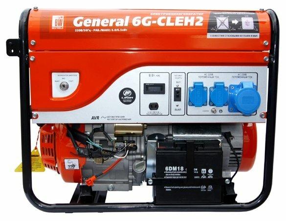 бензиновая электростанция bestweld general 6g-cleh2