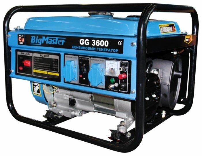 бензиновая электростанция bigmaster gg 3600