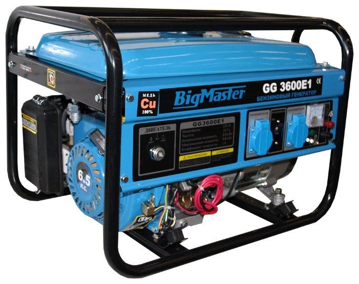 бензиновая электростанция bigmaster gg 3600 e1