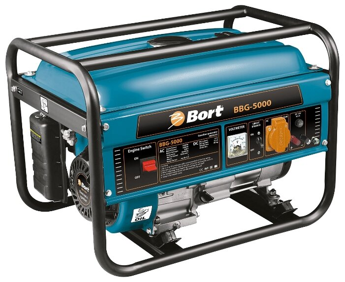 бензиновая электростанция bort bbg-5000