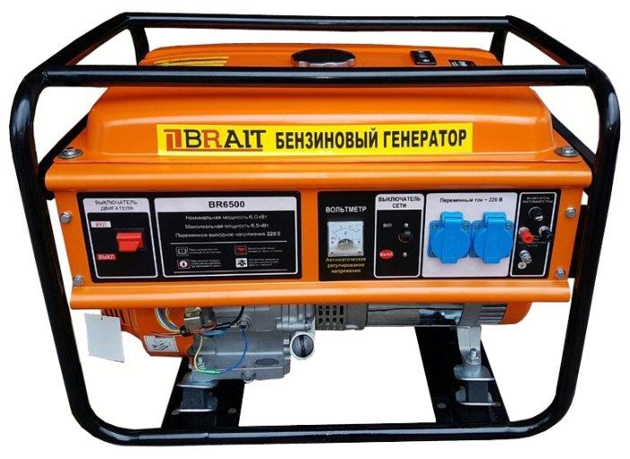 бензиновая электростанция brait br-6500al