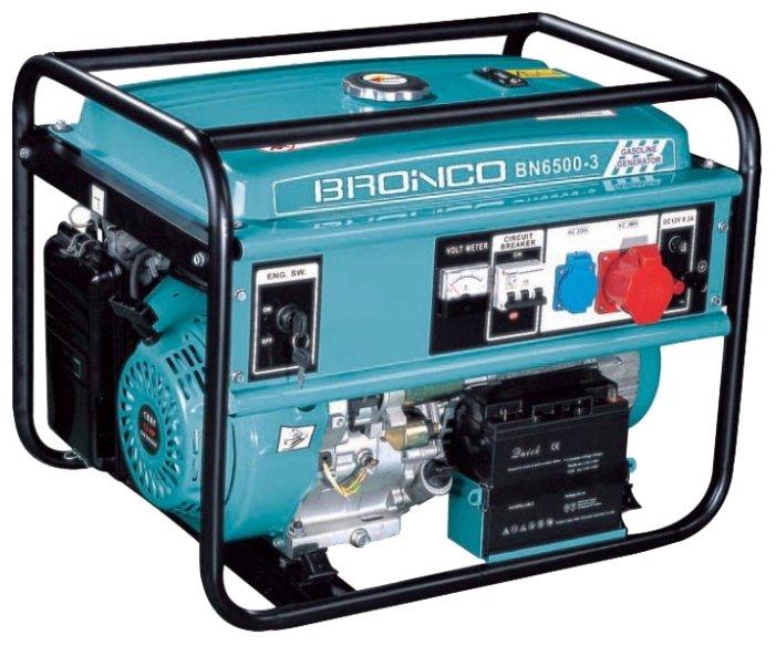 бензиновая электростанция bronco bn6500-3