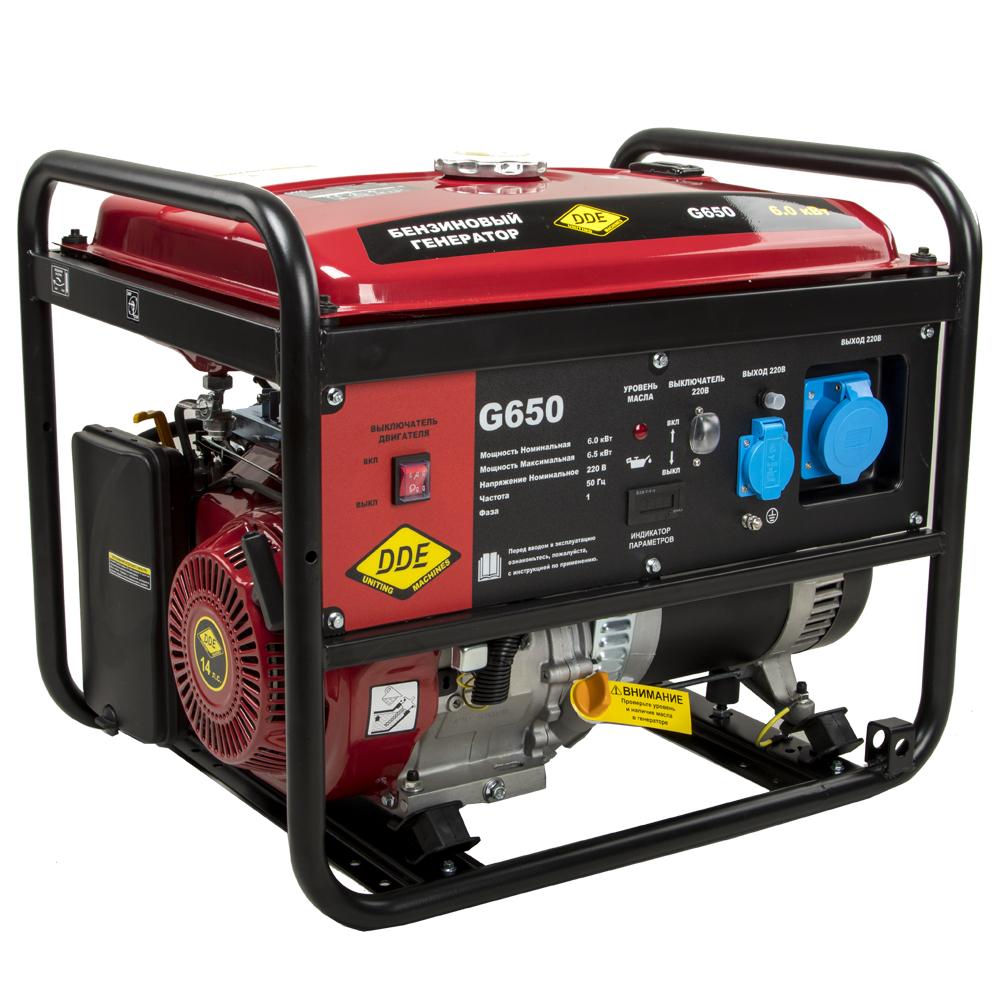 бензиновая электростанция dde g650