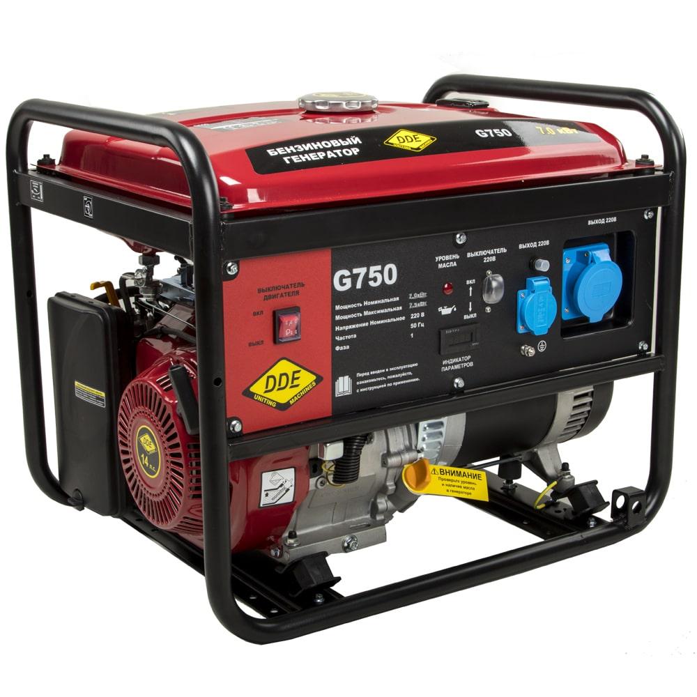 бензиновая электростанция dde g750