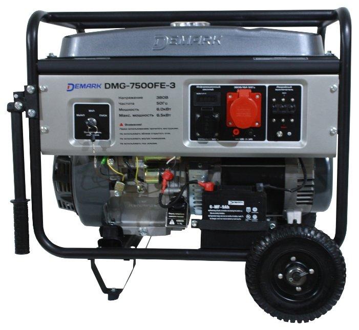 бензиновая электростанция demark dmg-7500fe 3