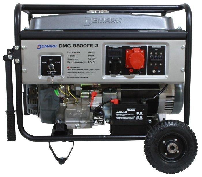 бензиновая электростанция demark dmg-8800fe 3