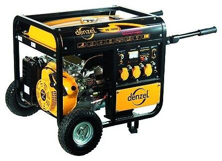 бензиновая электростанция denzel db8500е