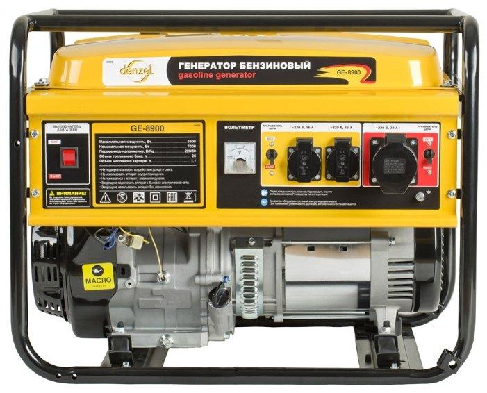 бензиновая электростанция denzel ge8900