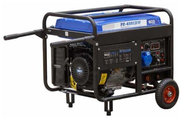 бензиновая электростанция eco pe-6501rw
