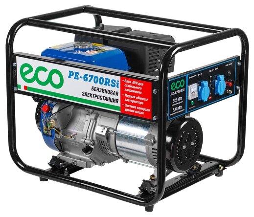 бензиновая электростанция eco pe-6700rsi