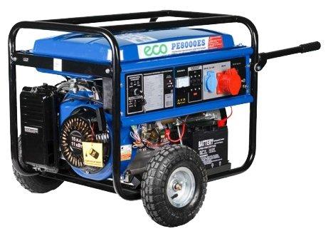 бензиновая электростанция eco pe 8000 es