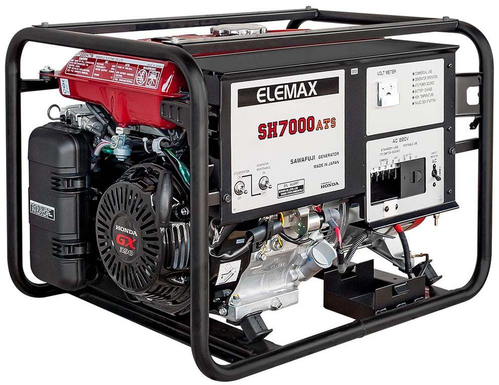 бензиновая электростанция elemax sh7000ats-ravs
