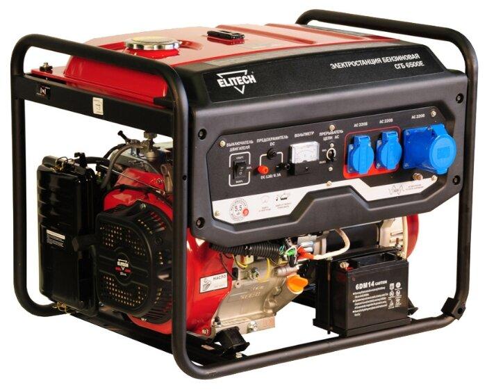 бензиновая электростанция elitech сгб 6500е