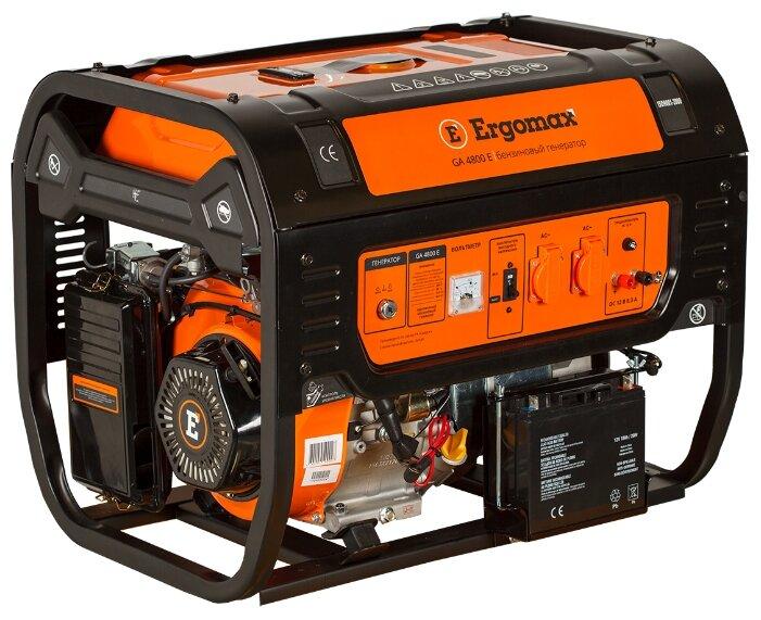 бензиновая электростанция ergomax ga 4800 e