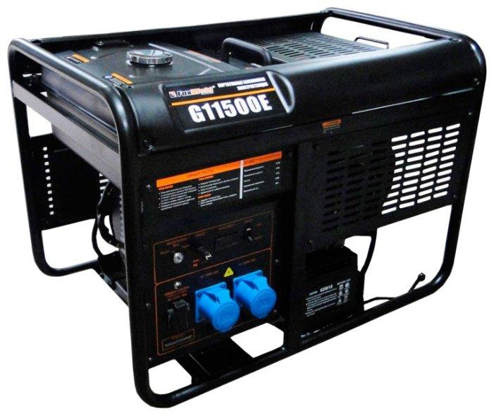 бензиновая электростанция foxweld g11500e