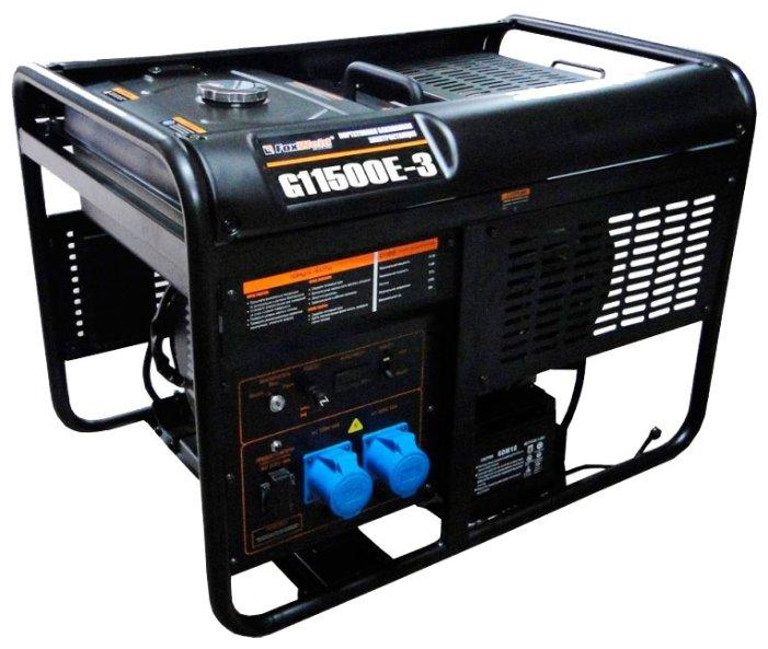 бензиновая электростанция foxweld g11500e-3
